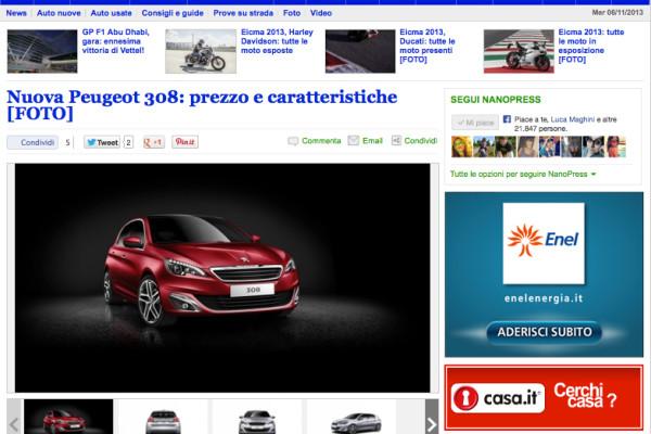 Peugeot su NanoPress