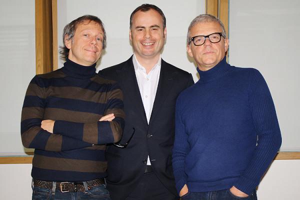 Roberto Battaglia, David Patton e Pino Rozzi