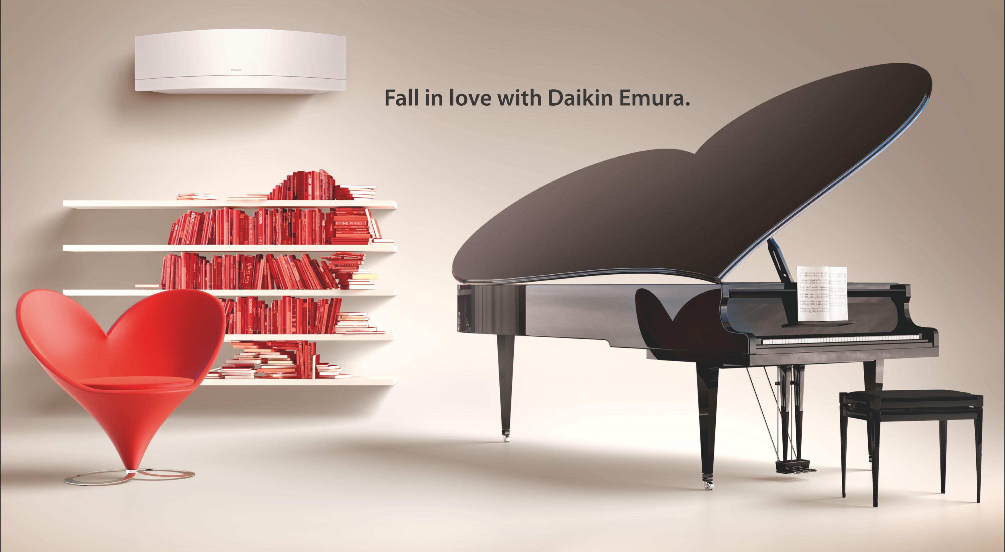 la gamma emura di daikin fa innamorare lancio a san. Black Bedroom Furniture Sets. Home Design Ideas