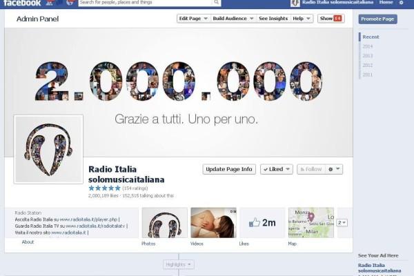 Radio Italia Facebook