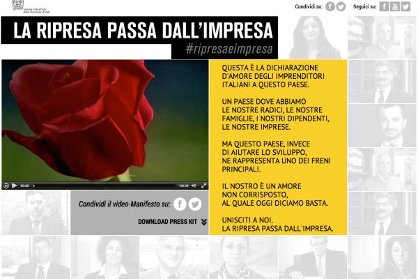Il sito www.ripresaeimpresa.it