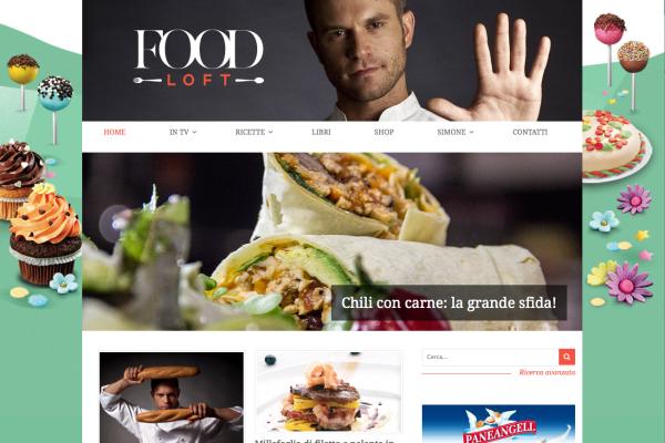 La home page di Foodloft
