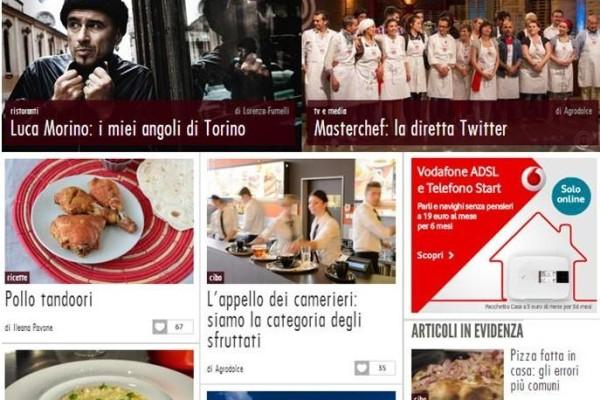 La home page di Agrodolce