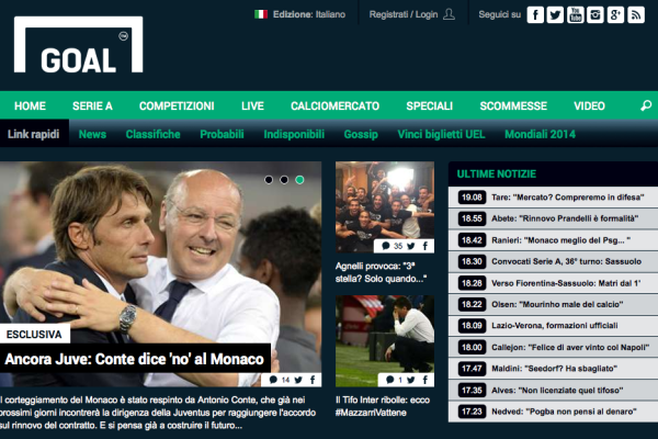 Goal.com maggio 2014
