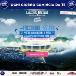 Io Tifo Azzurro - La Gazzetta dello Sport - #facciamoliazzurri