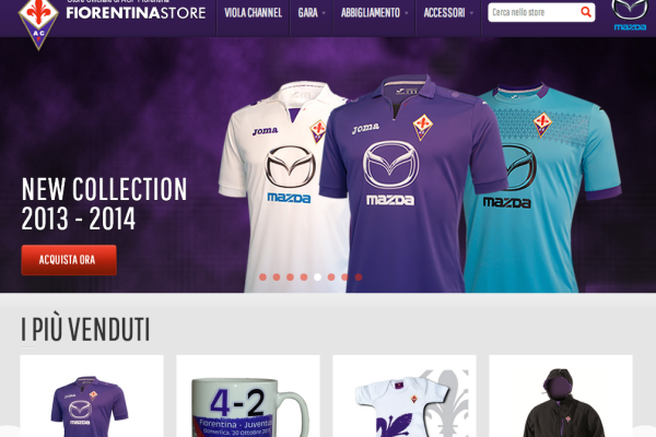 Fiorentina store - BookingShow - BizUp - UpCommerce