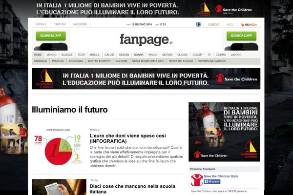 Fanpage - Save the Children - Illuminiamo il Futuro