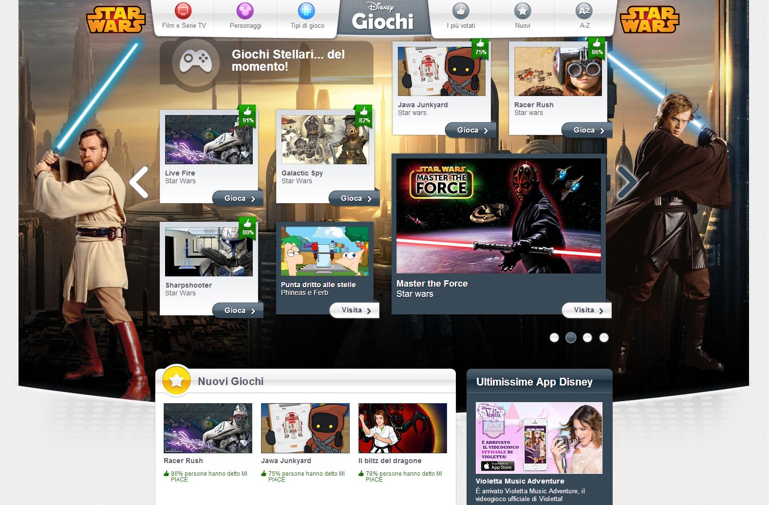 Disney online la nuova versione del sito ottimizzata per for Sito mobili online