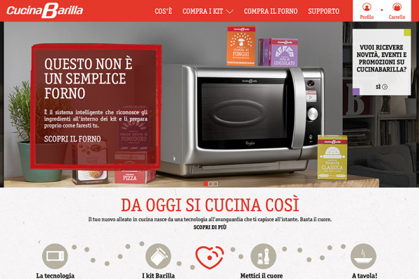 Cucinabarilla online l 39 e commerce a firma di ogilvyone - Cucina barilla whirlpool ...
