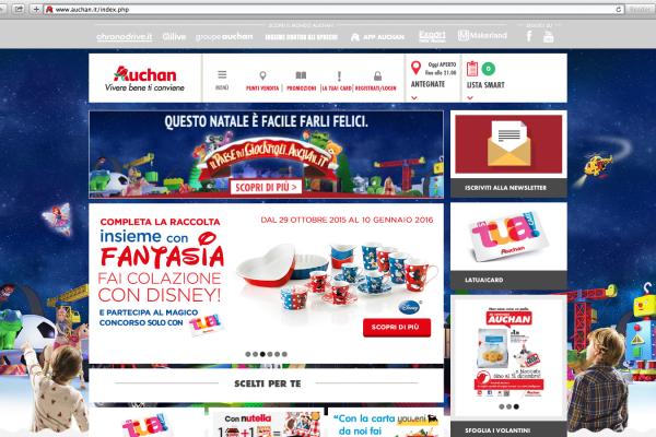 Da Auchan a Natale arriva il Paese dei Giocattoli con Plan.net e