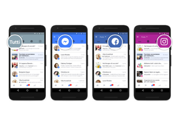 Facebook unifica le inbox di Pages, Messenger e Instagram