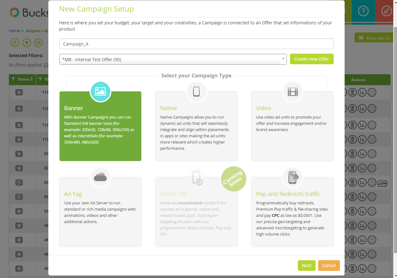 Bucksense-campaign-setup