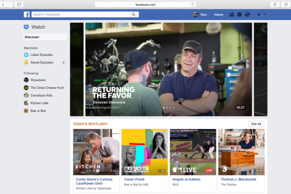 Facebook-tv-watch