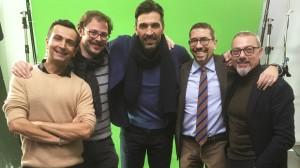 Marco Guicciardi, Alessandro Folloni, Gianluigi Buffon, Antonio Allegra e Francesco De Guido