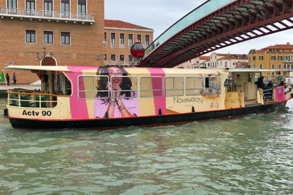 Nomination: un vaporetto brandizzato a Venezia