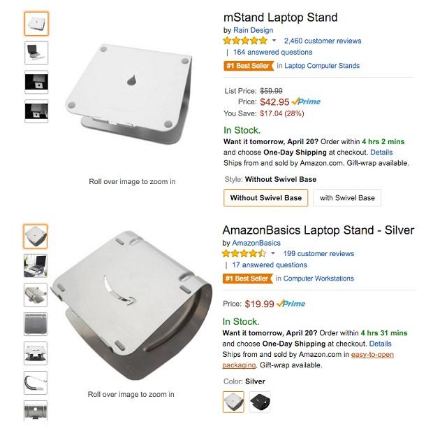 Caso Raindesign, foto di Amazon.com