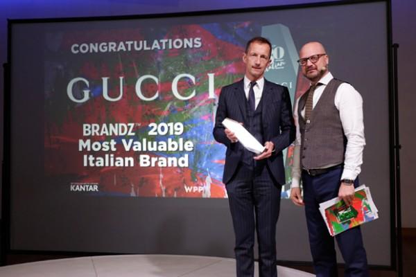 Gucci è il marchio italiano che vale di più