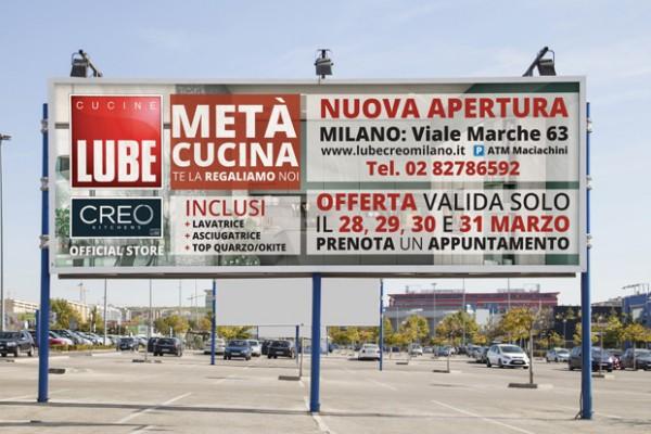 Gli store Lube e Creo di Milano comunicano con la web agency LU3G