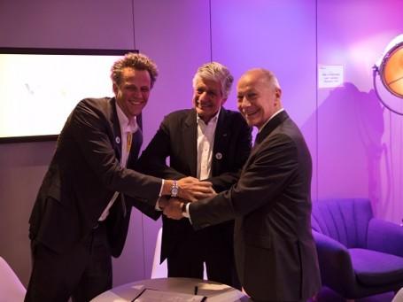 Arthur Sadoun, Maurice Levy e Thierry Bollorè