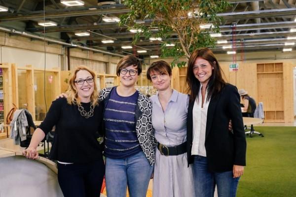 Noa Segre, Elisabetta Pique, Adriana Versino e Marta Paini
