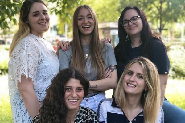 Giulia Ranza, Raffaella Stefani, Virginia Tamburini, Ambra Zacco e Anna Benvenuto