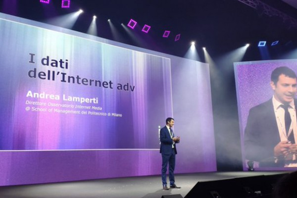 Andrea Lamperti sul palco di IAB Forum 2019