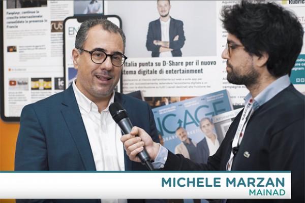 Un momento della videointervista a Michele Marzan di MainAd a IAB Forum 2019