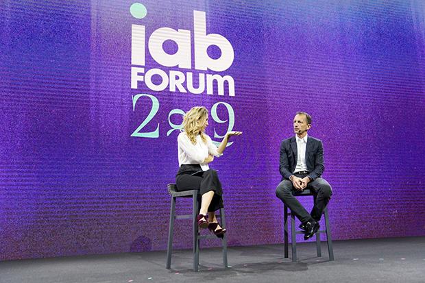 Robert Triefus di Gucci sul palco di IAB Forum 2019
