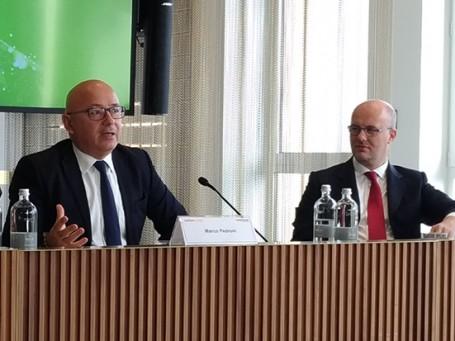Marco Pedroni e Massimiliano Parini alla conferenza CoopVoce