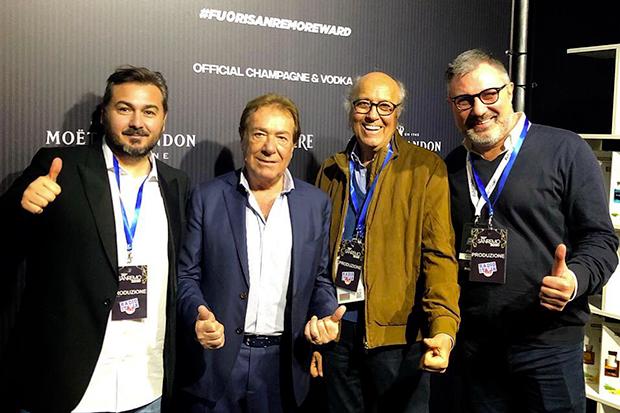 Patrizio Polifroni, Mario Volanti, Elio Cipri e Alessandro Raffaelli