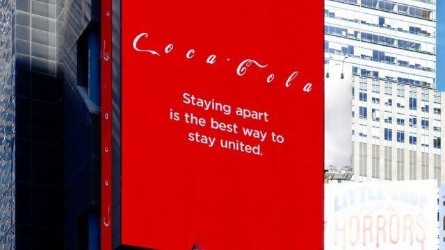 La campagna di Coca-Cola a Times Square