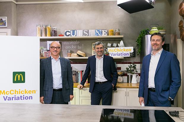Mario Federico, Andrea Santagata, Davide Mondo di McDonald's, Mondadori Media e Mediamond