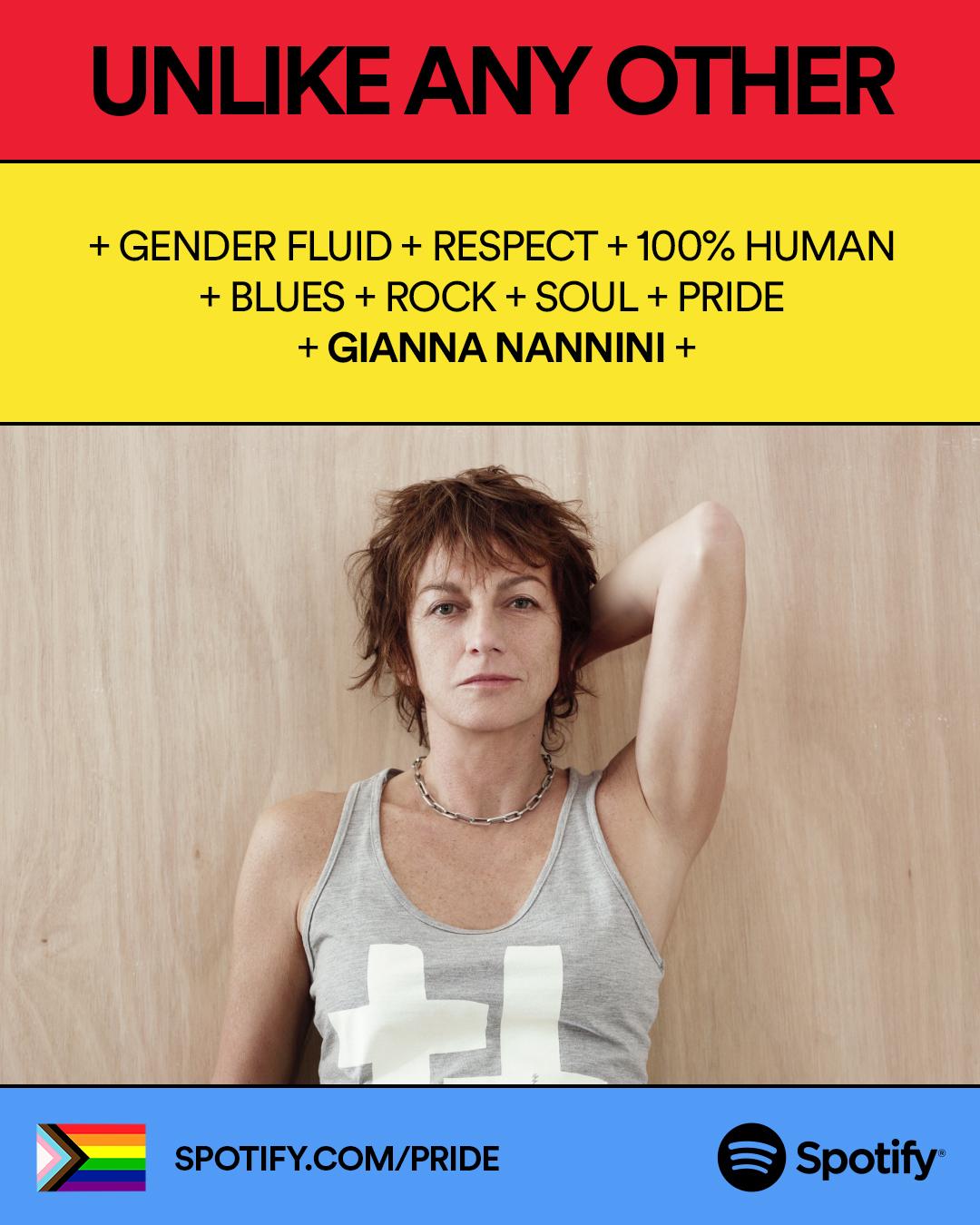 Gianna Nannini nella campagna Spotify